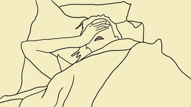 """A rotoscoped animation of one woman's personal experience with insomnia, dreams, and their effect on her everyday life.   Music: """"A Nightmare Without Fear"""" by Mister M, Soundtrack"""
