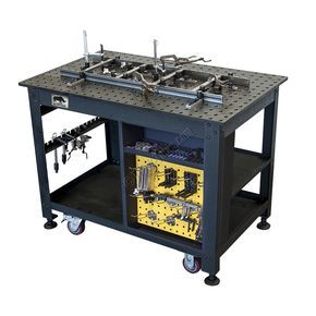 The NEW Rhino cart mobile fabrication welding cart from Strong Hand Tools