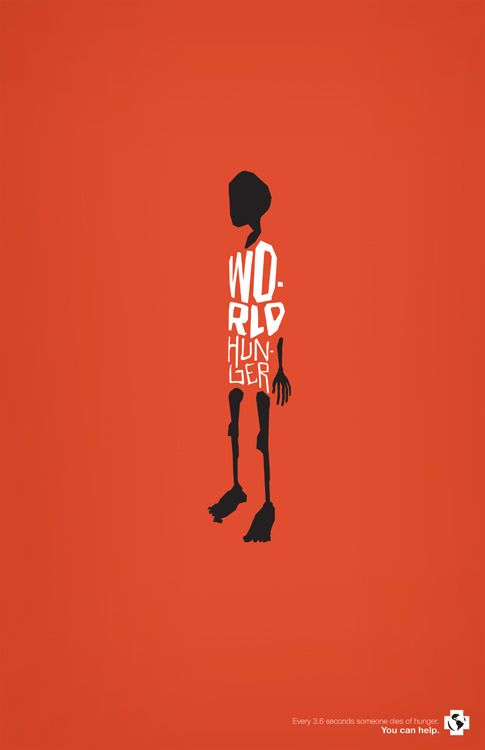 World Hunger Poster by Jeff Stein, via Behance