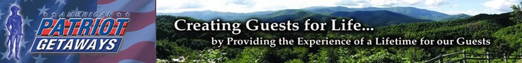 Gatlinburg cabins by American Patriot Getaways   Sounds like a good place to rent our next cabin.