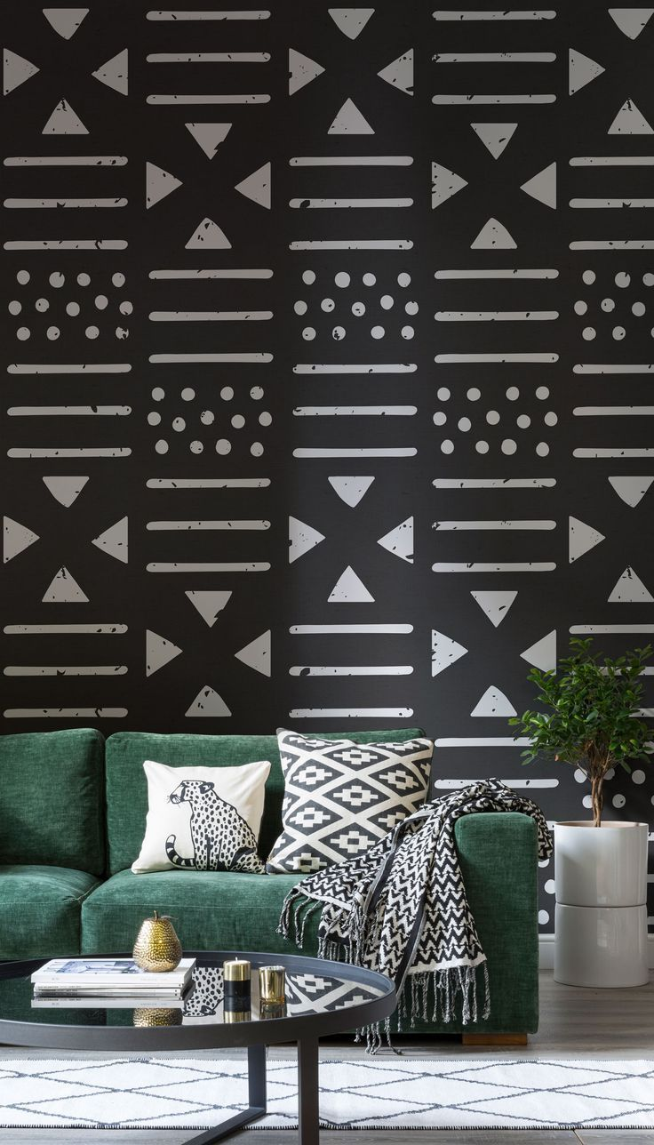Black White Tribal Wallpaper Unique Tribal Design