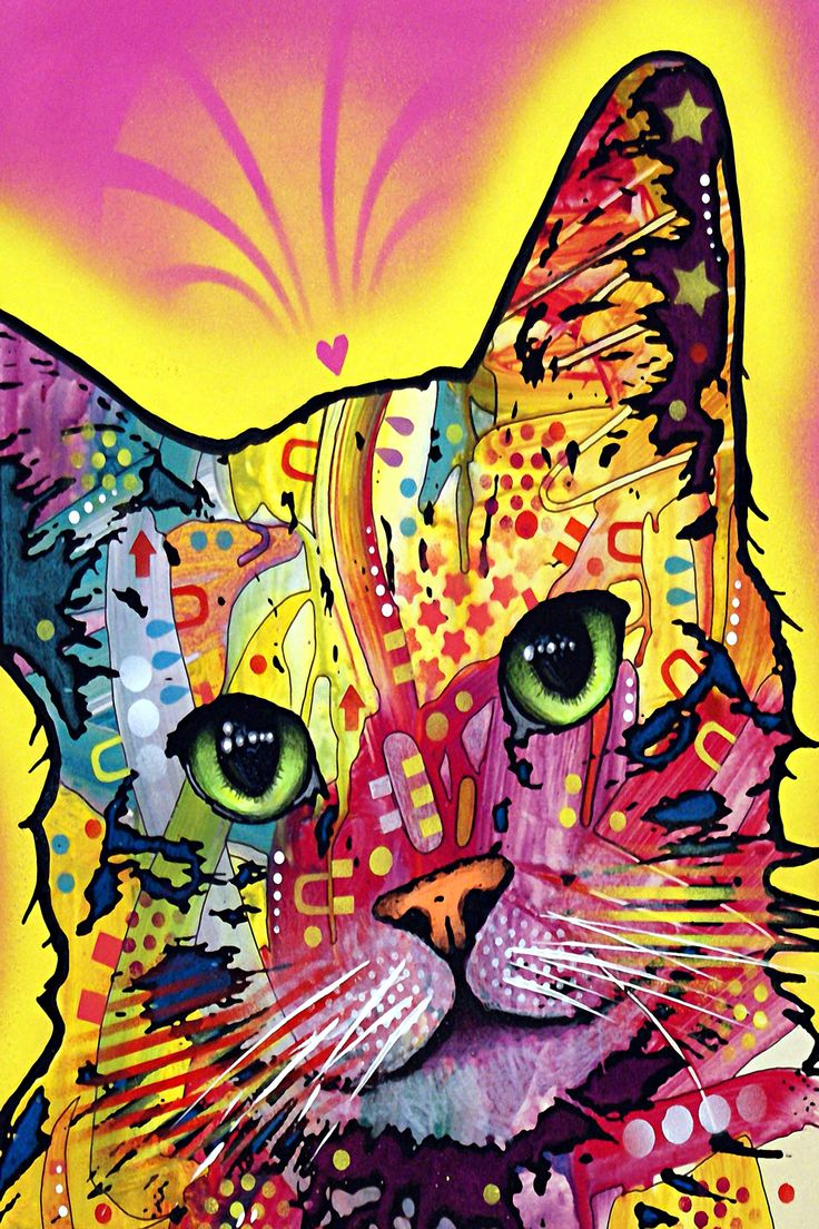 tilt cat canvas print by dean russo - Dean Russo