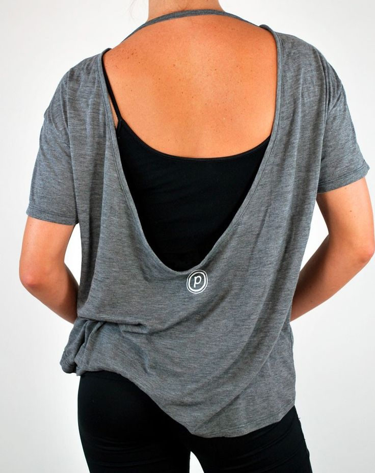 Pure Barre pony tee with strap apparel Shape Up