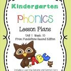 Fundations Kindergarten Phonics Lesson Plans Unit 1 Week 10: Includes a full week of Fundations lesson plans with:  *Learning outcomes for each activity  *CCL...