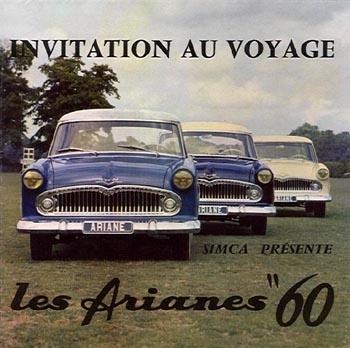 """1960 Simca Ariane models les """"petites françaises """" à la mode américaine !"""