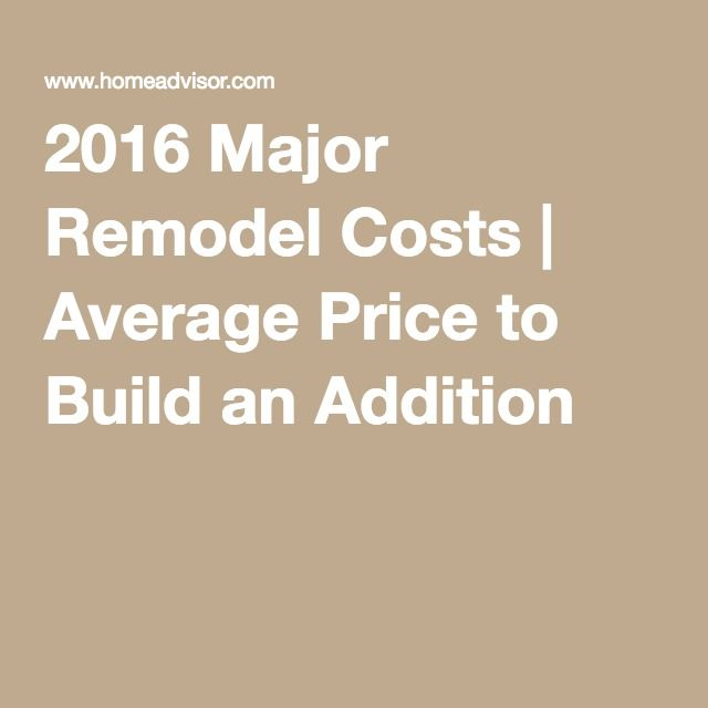 2016 Major Remodel Costs | Average Price to Build an Addition