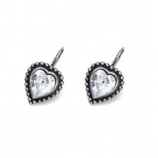 Oliver Weber Women lovely crystal earrings antique heart with Swarovski Crystals