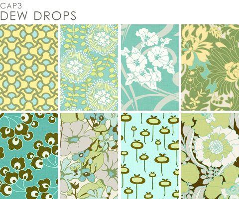 Amy Butler: Amy Butler Fabrics, Bathroom Colors, August Fields, Blue Green, Butler Prints, Pillows Patterns, Paintings Colors, Rooms Colors, Fabrics Quilts Sewing