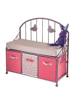 banc de lecture fille paradise bird vertbaudet enfant chambre b b fille pinterest kids. Black Bedroom Furniture Sets. Home Design Ideas