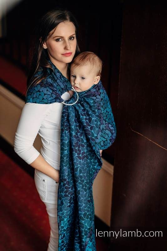 RINGSLING, JACQUARD WEAVE (100% COTTON) - WITH GATHERED SHOULDER - COLORS OF NIGHT