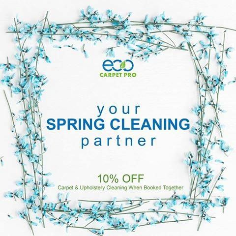 Did you know that carpets should be professionally cleaned every six months?  We'll help you Spring Clean your carpets & give you an ADDITIONAL $10 OFF-- just for giving us a try.  Learn More: http://bit.ly/EcoCarpetPro