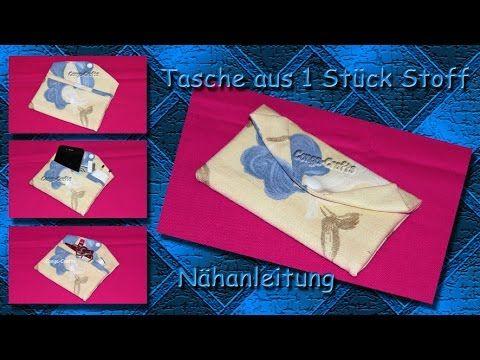 Tasche aus 1 Stück Stoff - Etta nähen / one piece purse / bag sewing