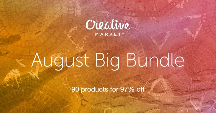 Check out August Big Bundle on Creative Market