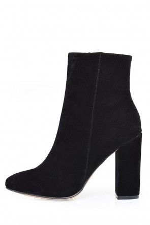 Tifiny Ankle Boots in Black Suede