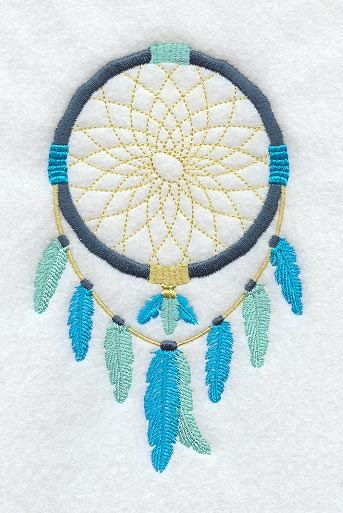 Embroidered Dreamcatcher in my favorite shades of blue. @ AzEmbroideryBarn.etsy.com