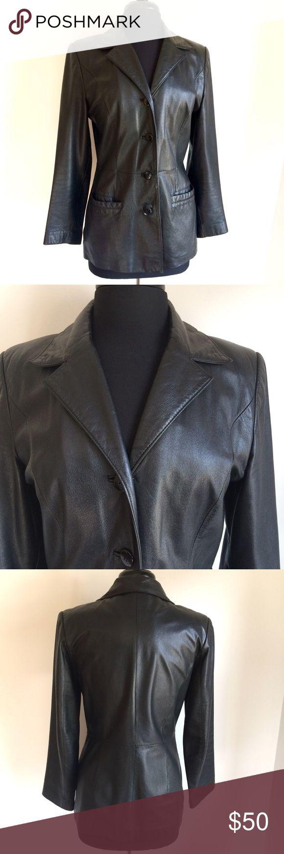 I just added this listing on Poshmark: Danier leather jacket S 6-8 blazer black 4 button. #shopmycloset #poshmark #fashion #shopping #style #forsale #danier canada #Jackets & Blazers