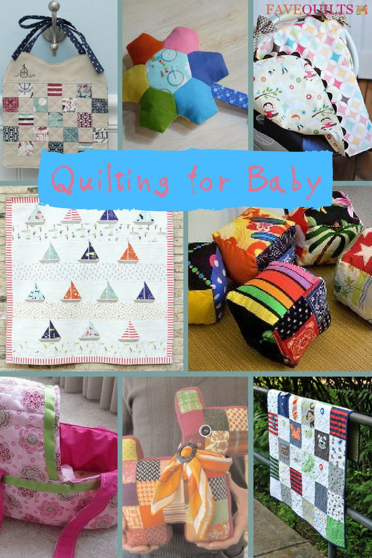 Quilting For Baby - find free patterns for toys, bibs, crib quilts, decor, and more!  | FaveQuilts.com