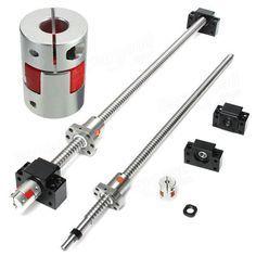 500mm sfu1605 vis à billes avec des supports BK12 de BF12 et 6.35x10mm coupleur pour cnc Vente - Banggood.com