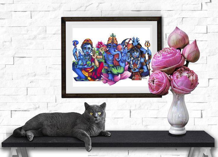 Lotus Flame, Print - Shari Mallinson
