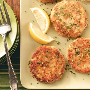 Tuna Zucchini Cakes Recipe from Taste of Home -- shared by Billie Blanton of Kingsport, Tennessee alter for paleo