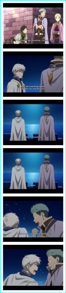 Snow White with the Red Hair - Zen and Shirayuki Kissed - Mitsuhide's reaction, BRILLANT!
