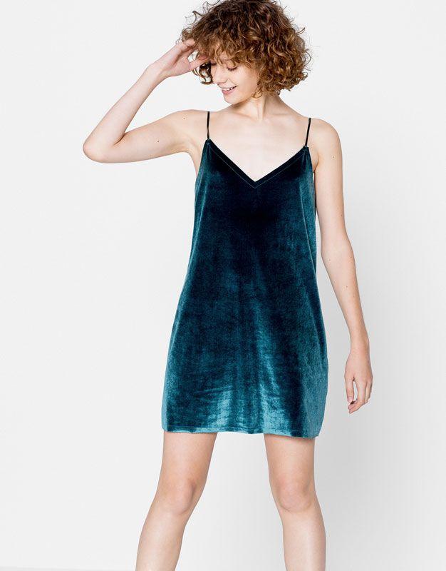 Pull & Bear velvet dress