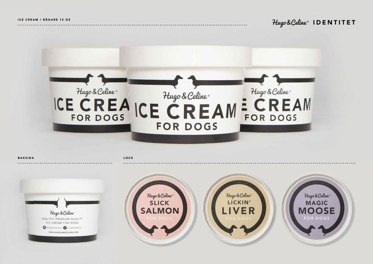 Hugo & Celine /Graphic Design /Ice Cream for dogs!