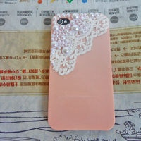iphone hard Ca se Cover with Pearl Lace shell For Apple iPhone 4,4S ,iPhone 4 Case, iPhone 4 S Case, iPhone 4 G S Case  -091