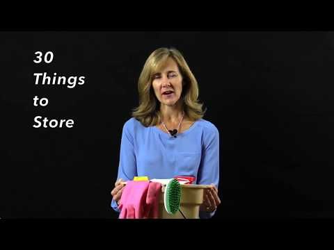 30 Things to Store Day 21: Cleaning Supplies   The Seana Method