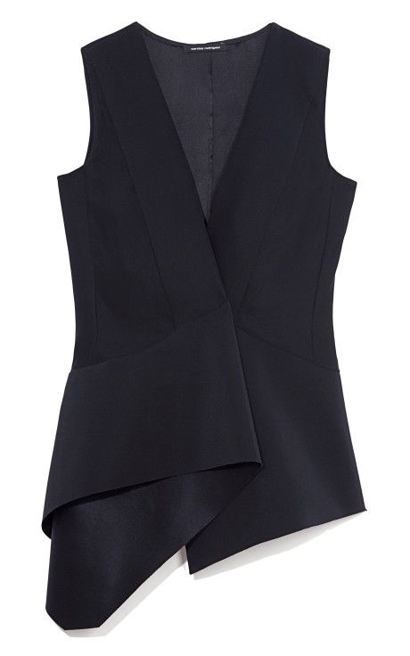 Navy Heavy Silk Charmeuse Top by Narciso Rodriguez