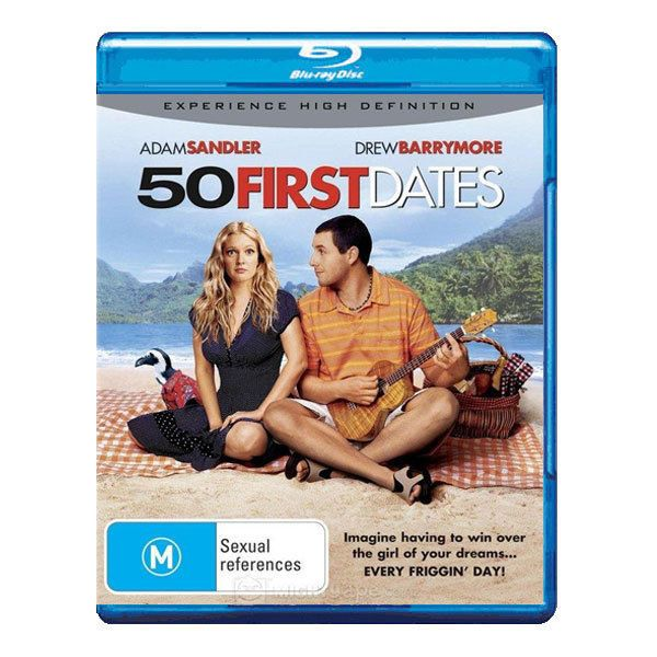 50 First Dates Blu-ray Brand New Region B Aust. - Adam Sandler, Drew Barrymore