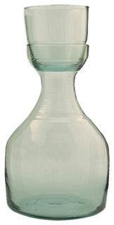 Recycled Glass And Carafe Set, Small - eclectic - serveware - by Be Home