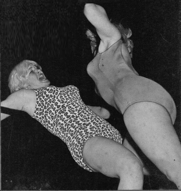 womens pro wrestling penny banner vs judy grable vintage female wrestling women