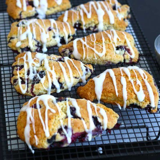 Blueberry Lemon Scones how the Queen of England would love it!