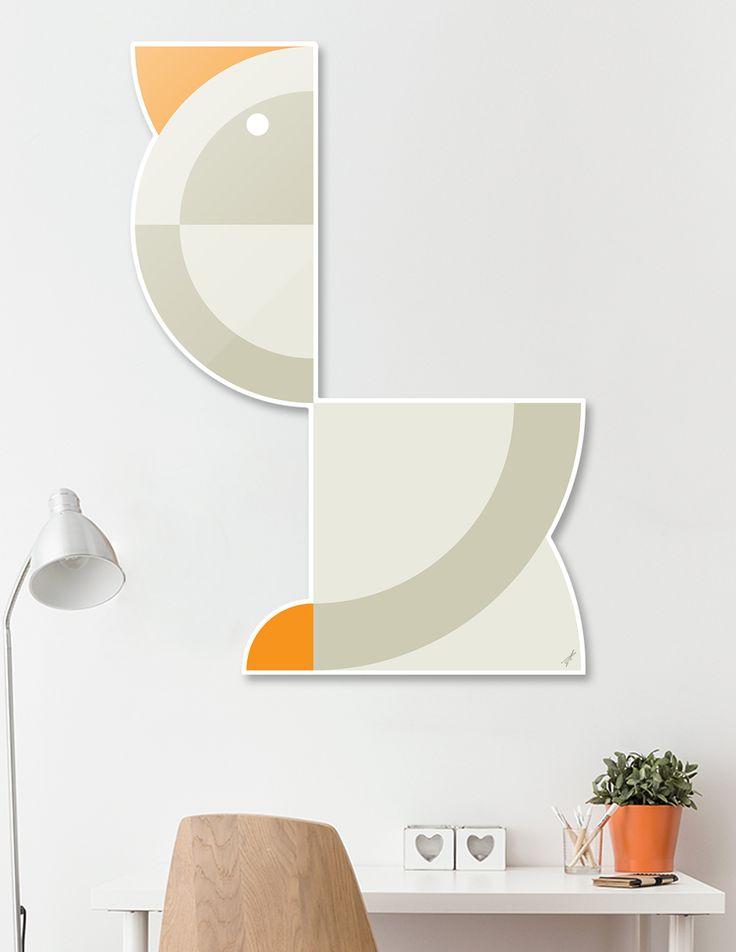 #DieCut #Aluminum #Print of #Geometric #Animals.  #Home #Decor Series by Vaggelis Arabatzoglou!  Available in a variety of #Art #Prints on #Curioos! #2dart #quadrant #geometric #design #homedecor #kidsroom #livingroom #lifestyle #abstract #graphicdesign #vectorart #illustration #contemporary #birds #goose #geese #minimal
