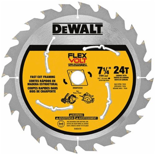 Dewalt Dwafv37243 Flexvolt Trade Small Diameter Circular Saw Blade 7 1 4 Table Saw Blades Circular Saw Blades Saw Blade