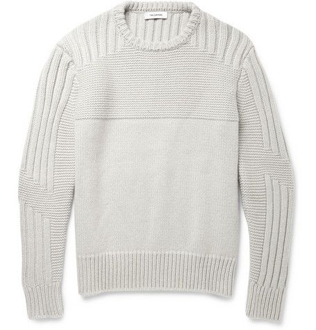 Tim CoppensPanelled-Knit Merino Wool and Cashmere-Blend Sweater