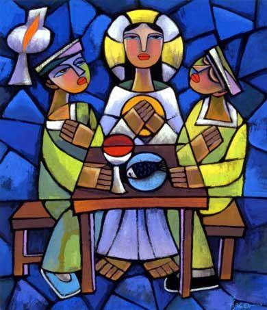 He Qi - Supper At Emmaus