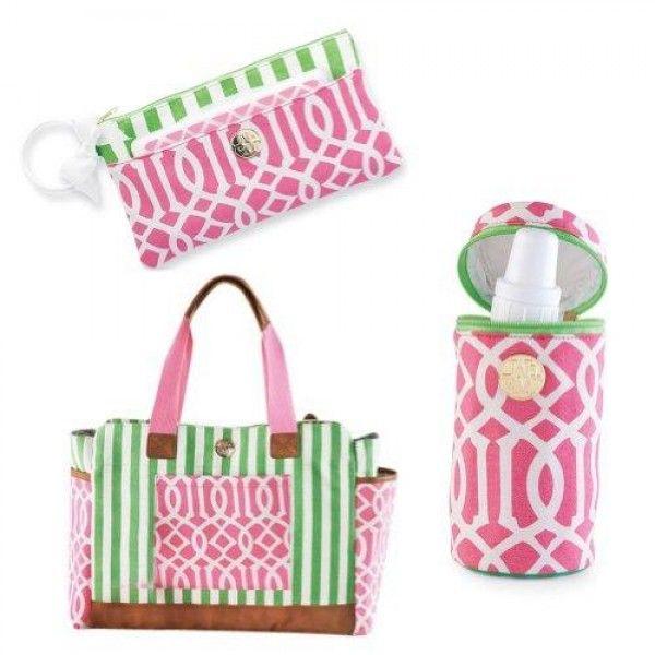 mud pie bigger bundle pink diaper bag set baby. Black Bedroom Furniture Sets. Home Design Ideas