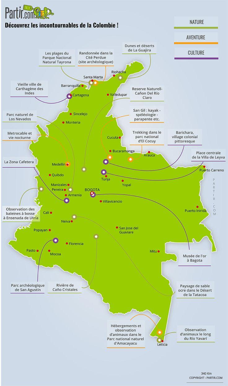 carte Colombie où partir