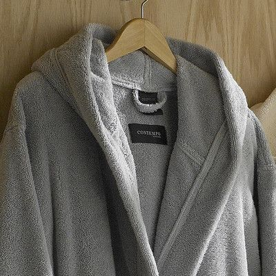 Kassatex Contemporary Bath Robe Color: Steel