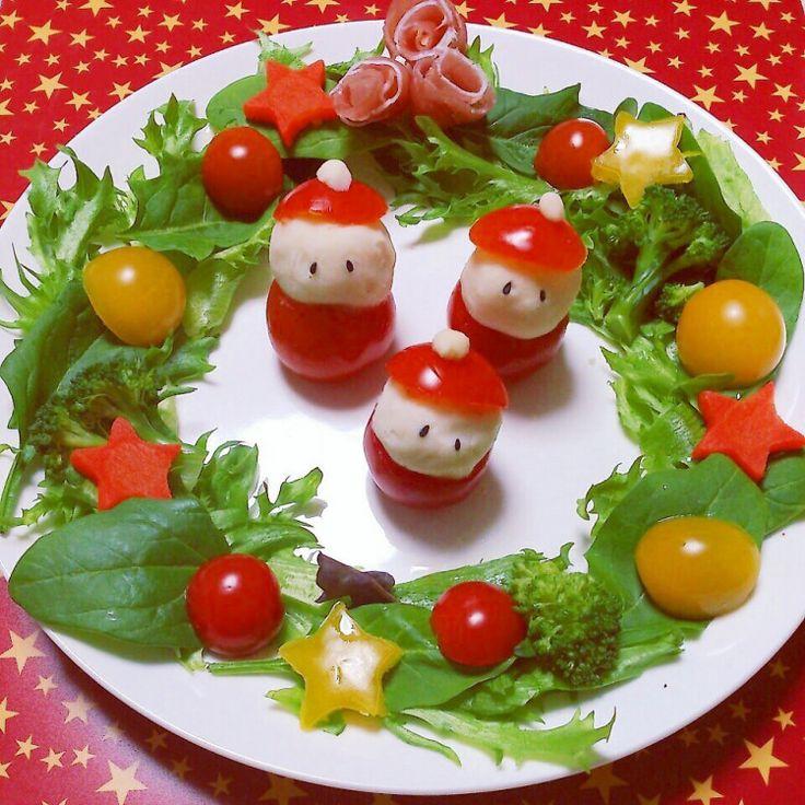 ★ クリスマス ♡リースサラダ