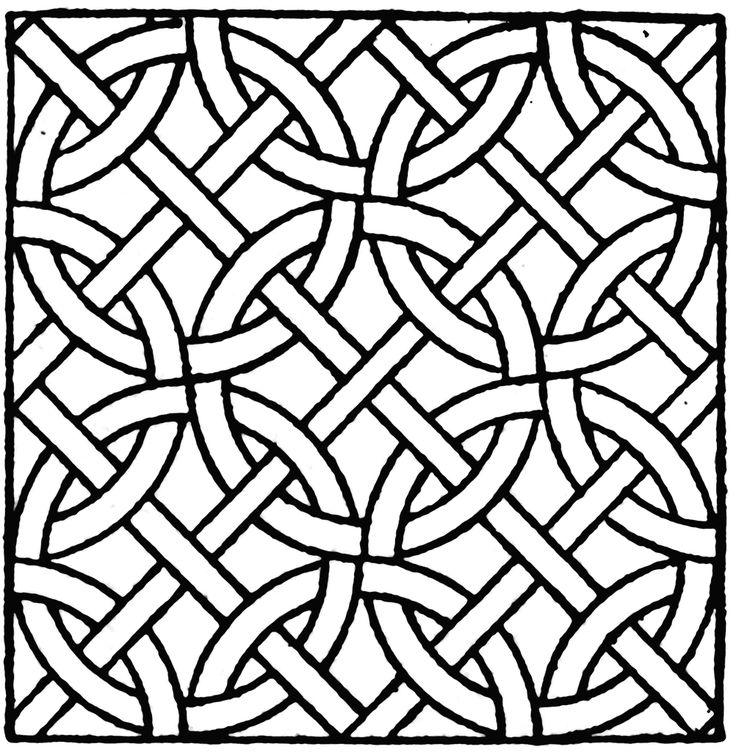 Roman Mosaic Patterns Printable