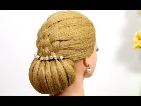 Updo hairstyles. Hairstyles for medium hair. Wedding hairstyles. - YouTube