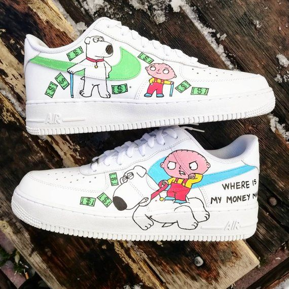 Family Force Briancustom GuyStewie Custom Air Sneakers Nike And SAR35Lcj4q