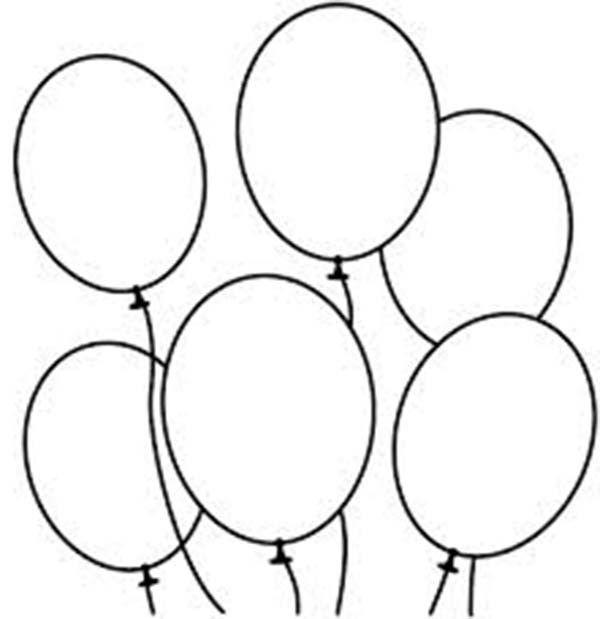 ballon vorlage zum ausdrucken  kinder ausmalbilder