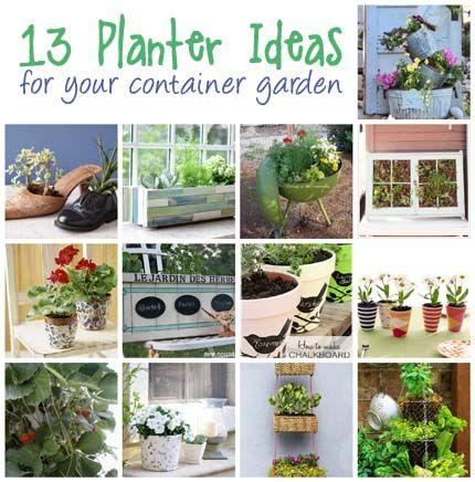 13 Planter Ideas for Your Container Garden @CraftBits & CraftGossip