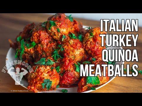 Italian Quinoa-Stuffed Turkey Meatball for Meal Prep / Albondigas Italianas de Pavo y Quinua - YouTube