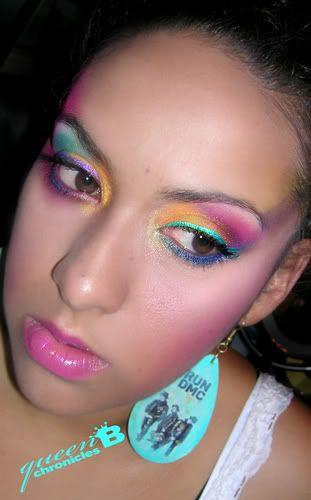 80's type makeup/face paint