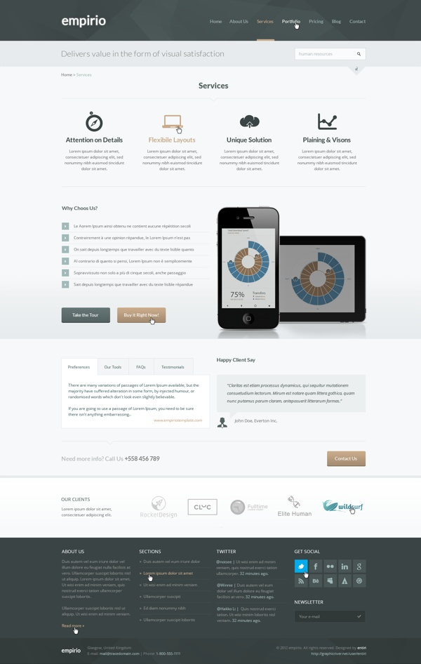empirio Corporate Template by entiri , via Behance